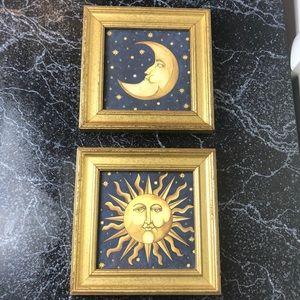 Vintage celestial sun & moon pictures